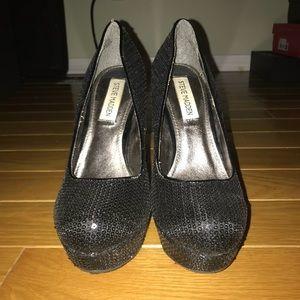 Black Sequin Steve Madden Heels